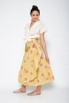 Baliza women´s Lola skirt Yellow Marigold screen print