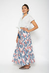 Mambo Skirt Blue and Pink Lily