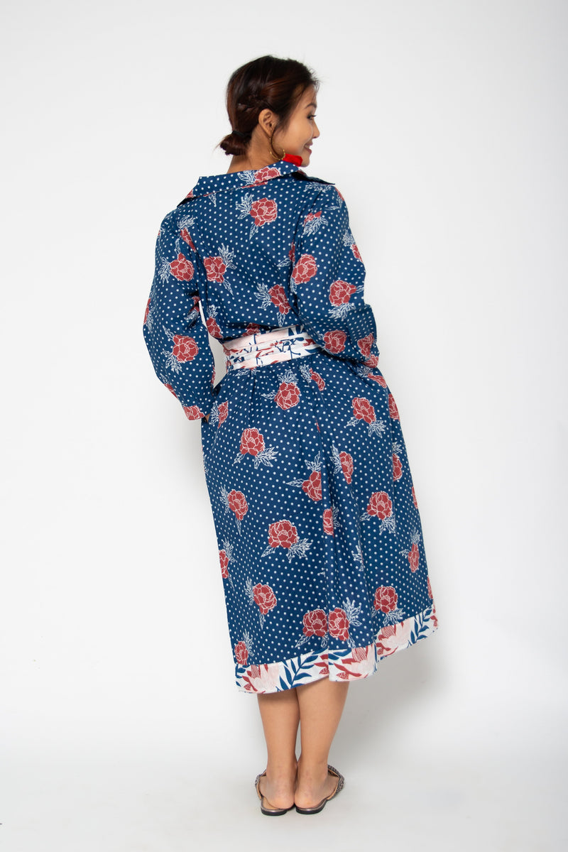Obi Shirt Dress Blue Marigold