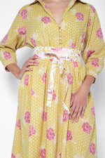 Obi Shirt Dress Yellow Marigold