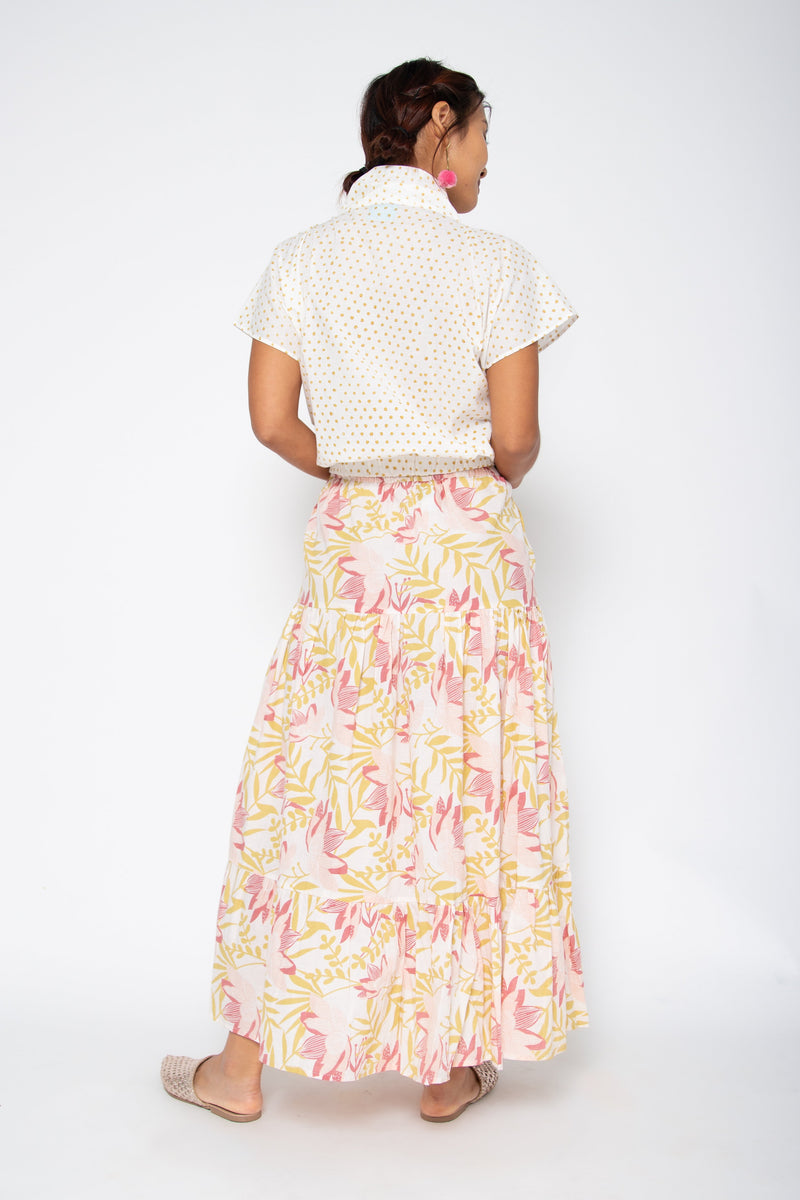 Mambo Skirt Yellow and Pink Lily