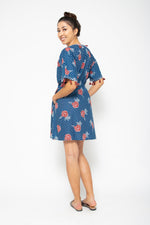 Shell Short Dress Blue Marigold