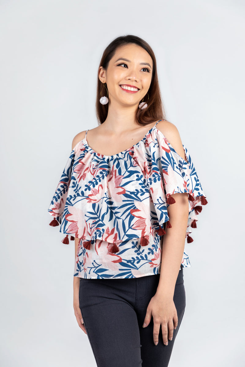 Butterfly Top Blue & Pink Lily