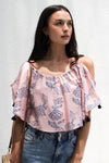 Butterfly Off Shoulders Top Grand Flower