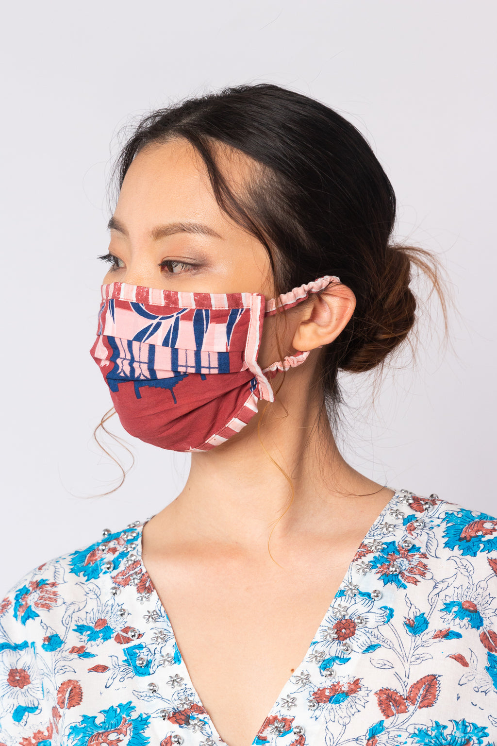 Mask in Halia with Stripes