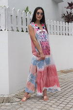 Jaipur dress Blue Pink