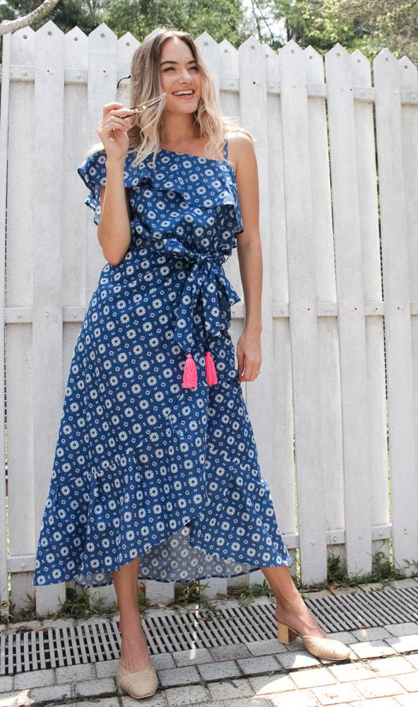 Baliza women´s LA Dress Daisy screen print