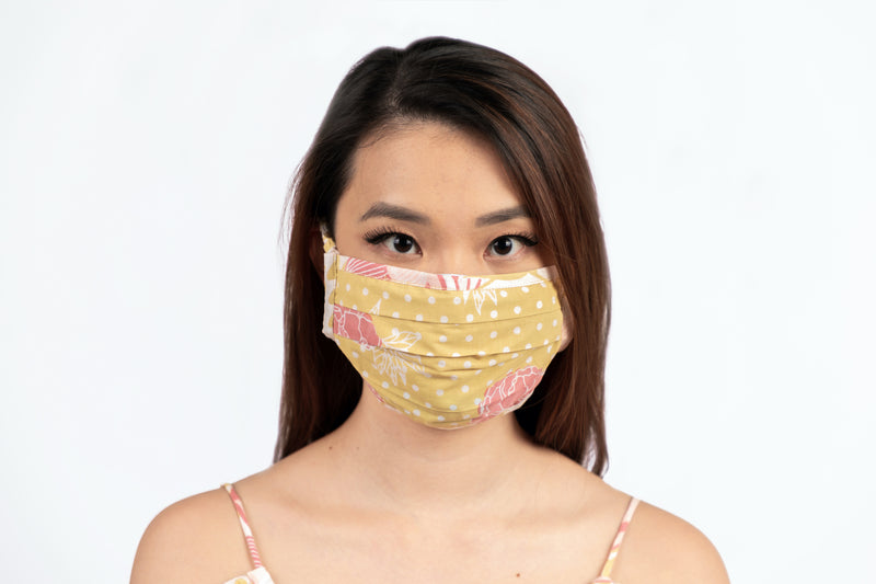 Mask in Yellow and Pink Marigold