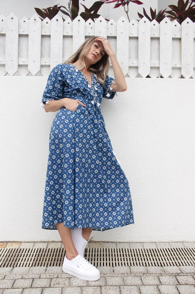 Shell Maxi Dress Daisy