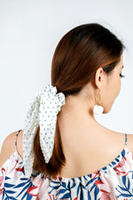 Scrunchie Blue Polka Dots