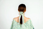 Scrunchie Blue and Green Paisley