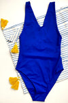 Blue Rhiannon One Piece + Stripes Sarong