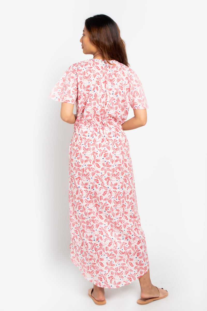 Wave Midi Dress Pink Orchid