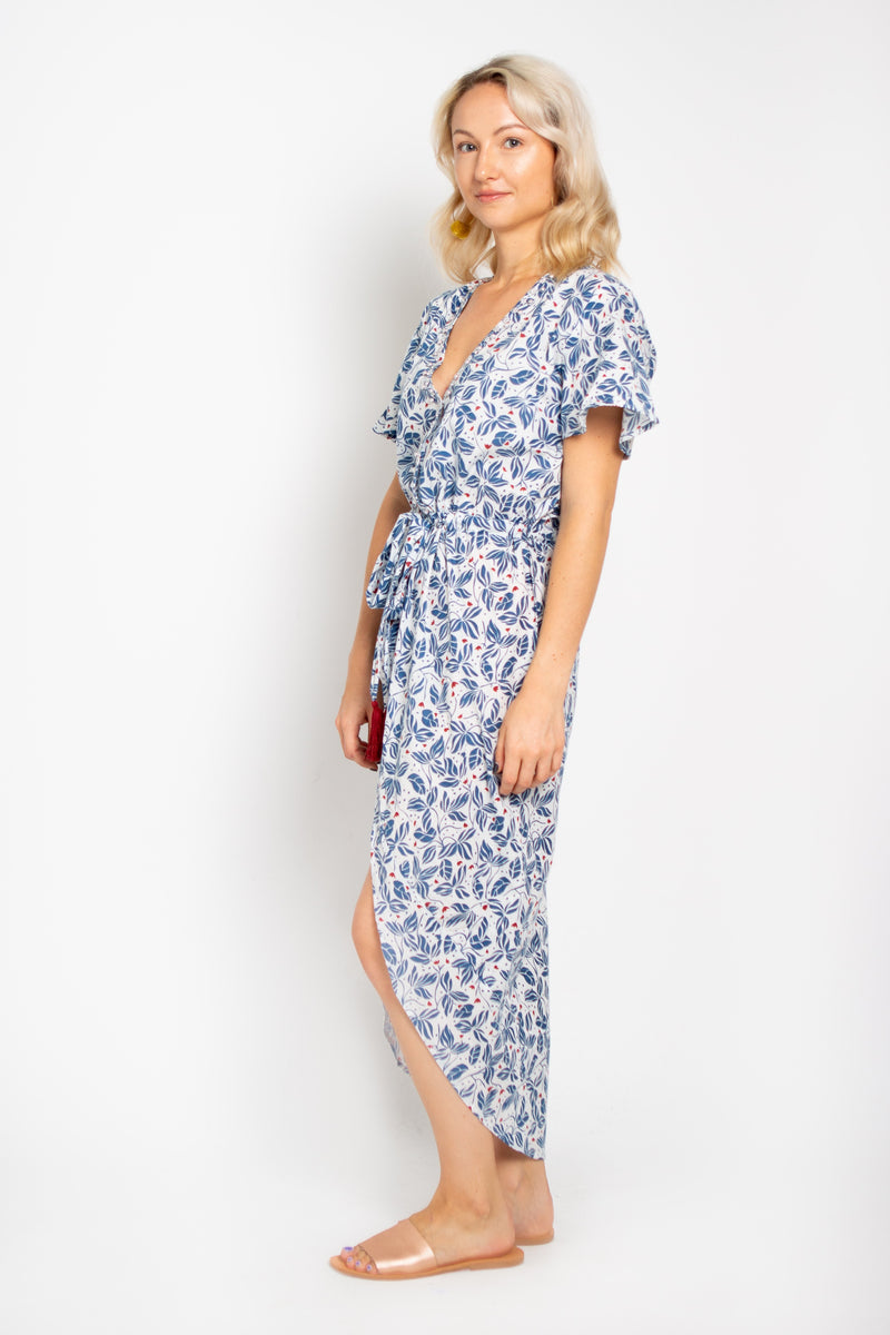 Wave Dress Blue Orchid