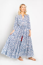 Baliza women´s Island maxi dress with pockets in blue orchid