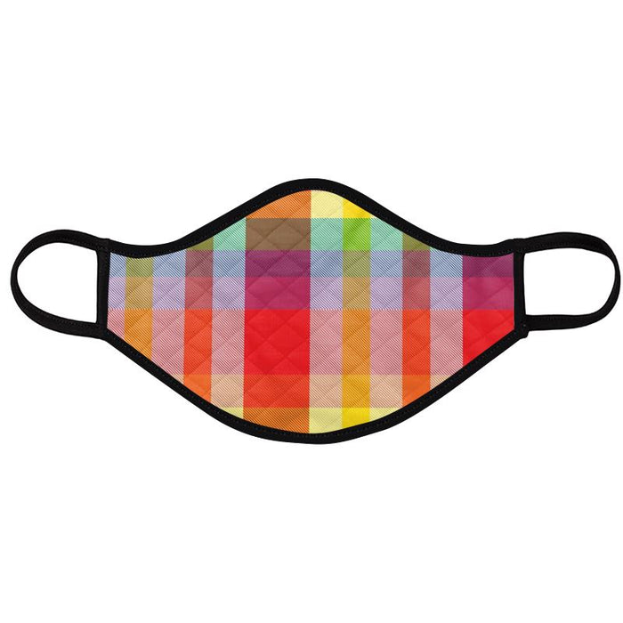 Pride Plaid Design Face Mask