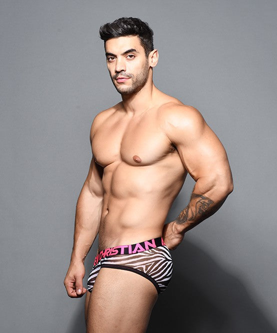 Andrew Christian Sheer Mesh Zebra Brief