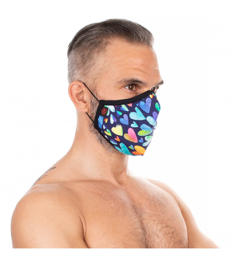 TOF Paris Rainbow Heart Face Mask