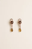 Smoky Quartz & Pink Sapphire detachable Earrings