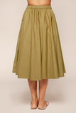 Organic Cotton Poplin Swing Skirt