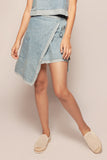 Organic Denim Wrap Skirt