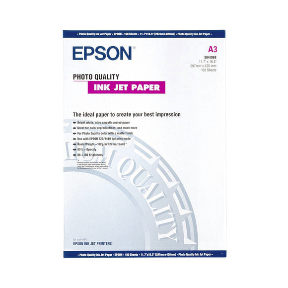 EPSON Photo Quality Inkjet Paper A3 (100)
