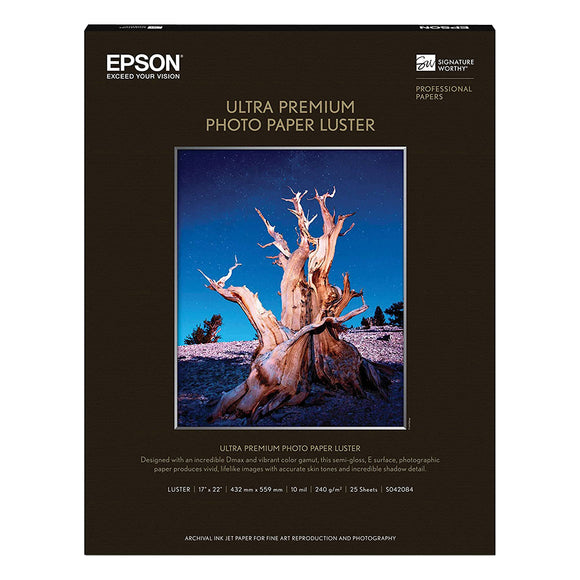 EPSON Ultra Premium Photo Luster 17 x 22 Inches (25sheets)