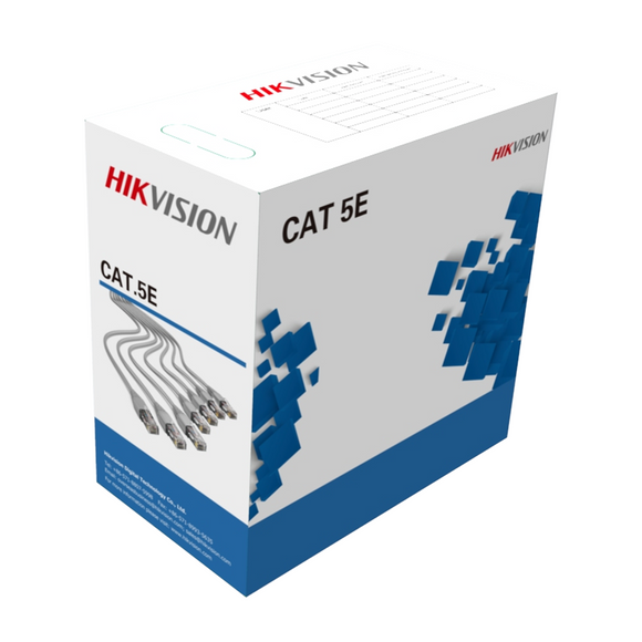 Hikvision 305 m CAT5E UTP Network Cable (Solid Copper, 0.45 mm, CMX) DS-1LN5E-E/E