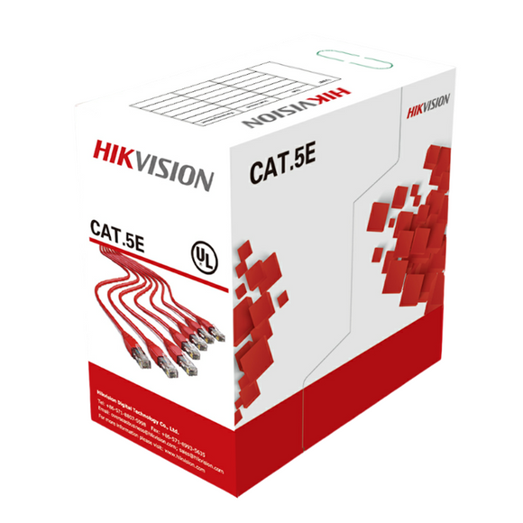 Hikvision 305 m CAT5E UTP Network Cable (Solid Copper, 0.5 mm, CM) DS-1LN5E-S