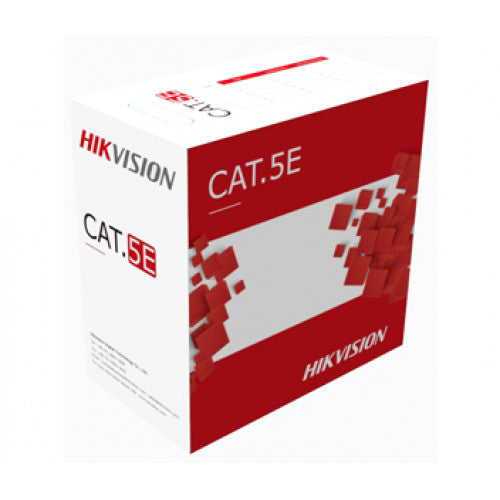 Hikvision Cat5e Outdoor UTP Cable [23AWG, Core Diameter 0.5mm, Black, 305m/roll] DS-1LN5EO-UU/E