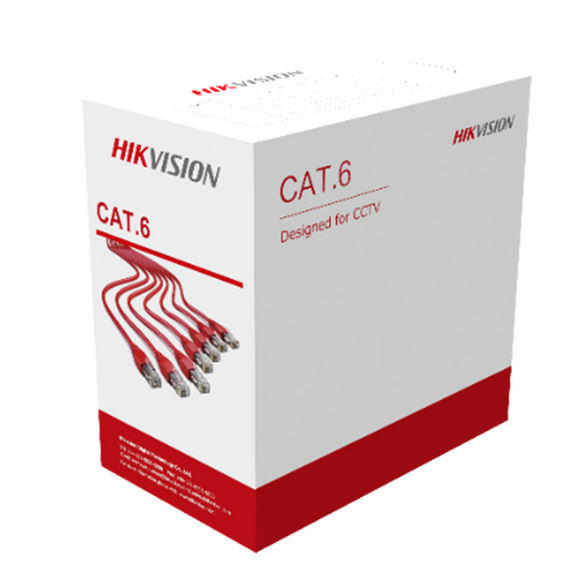 Hikvision U/UTP Cat6 PVC 23 AWG Cable DS-1LN6U-G