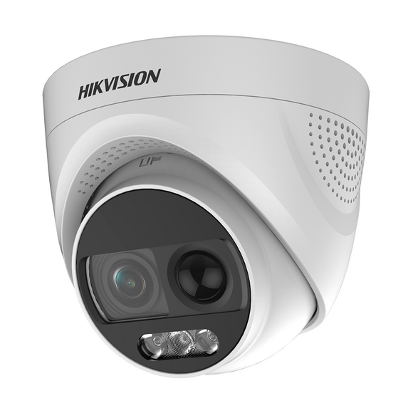 Hikvision Turbo HDX ColorVU W/ Siren Cameras (24-hour color video) 2MP (DS-2CE72DFT-PIRXOF28 2.8MM)