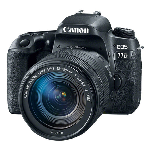 Canon EOS 77D (W) w/18-135 IS USM DSLR Camera