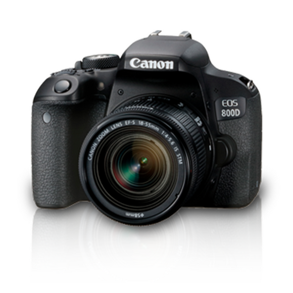Canon EOS 800D (W) w/18-55 IS STM DSLR Camera