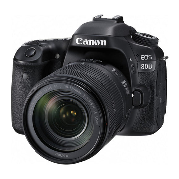 Canon EOS 80D (W) w/18-135 IS USM DSLR Camera