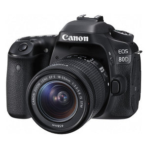 Canon EOS 80D (W) w/18-55 IS STM DSLR Camera