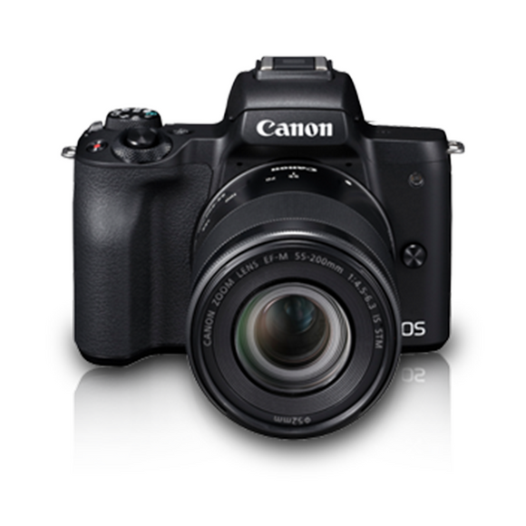 Canon EOS M50 EF-M15-45mm/55-200mm Mirrorless Camera