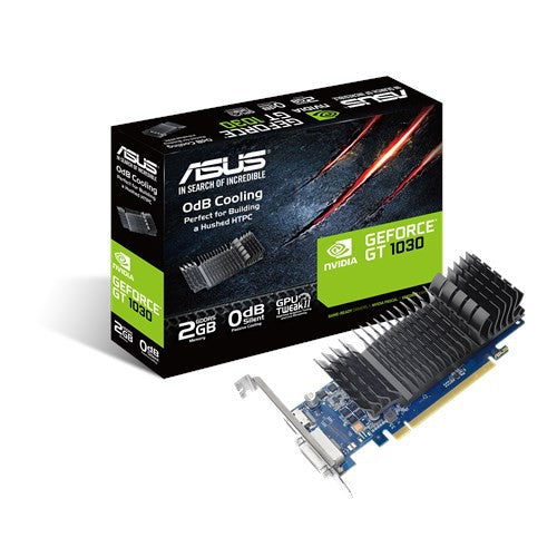 ASUS GeForce® GT 1030 2GB GDDR5 low profile graphics card (GT1030-SL-2G-BRK D5)