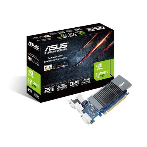ASUS GeForce® GT 710 great value graphics with passive 0dB efficient cooling (GT710-2-SL-2GD5 BRK)