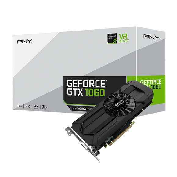 PNY GeForce GTX 1060 3GB (Single Fan)