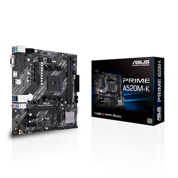 ASUS Prime A520M-K AM4 Micro-ATX Motherboard