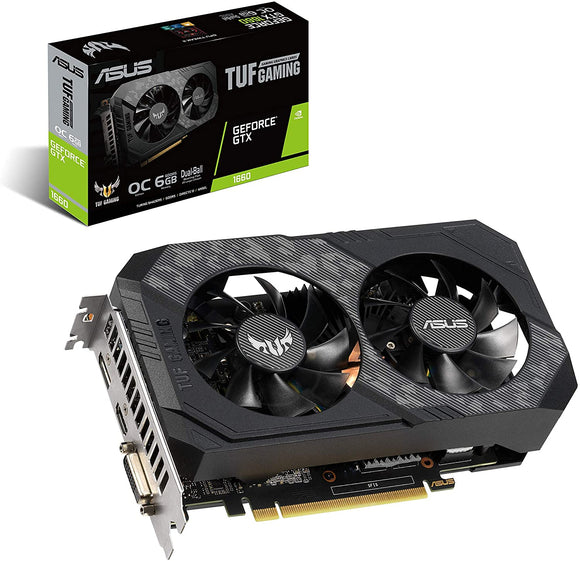 ASUS TUF Gaming GeForce® GTX 1660 OC edition 6GB GDDR5 (TUF GTX1660-O6G GAMING)