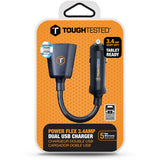 ToughTested PowerFlex 3.4A Dual USB Type-A Car Charger