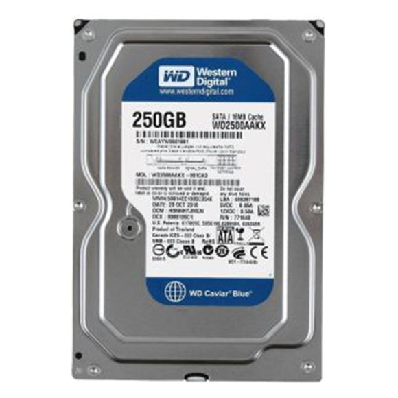 Western Digital WD2500AAKX - 250 GB 7.2K RPM 16 MB Cache SATA 6 Gb/S 3.5