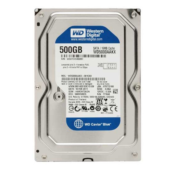 Western Digital WD5000AAKX - 500GB 7.2K RPM SATA 3.5