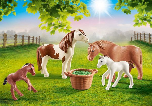 Playmobil Speelset Country Pony's Met Veulens Junior 6-Delig