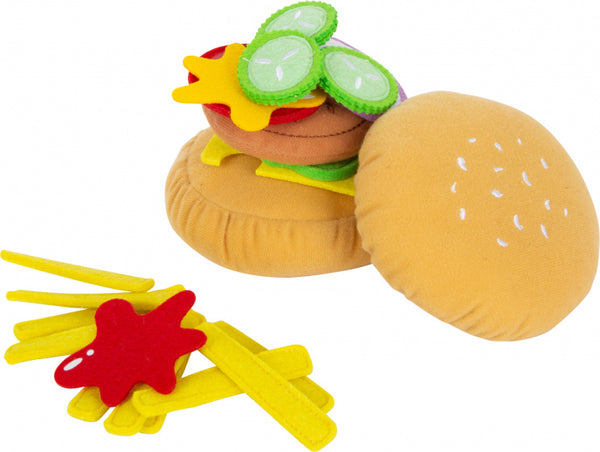 Small Foot Hamburgerset Met Friet Junior 10 Cm Vilt 10-Delig - Zazou shop.nl