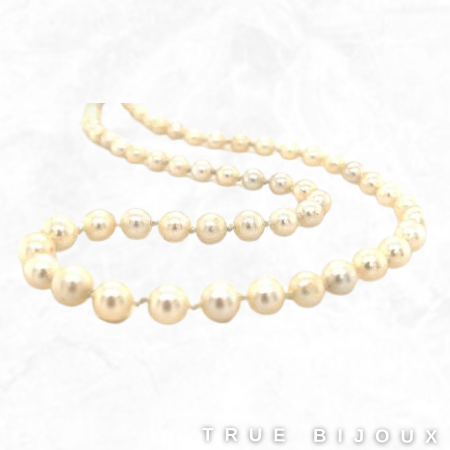 Vintage Cultured Pearl Strand With Sterling Silver Clasp Vintage for sale Ottawa Montreal Toronto True Bijoux