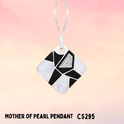 elegant enamel necklace perfect for mom or grandma this mother's day Ottawa True Bijoux