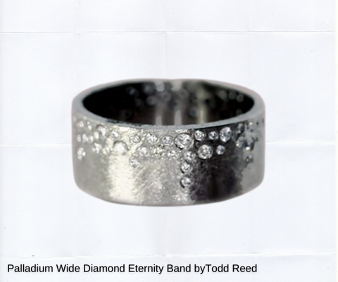 unique flush gypsy set ring in palladium white gold by todd reed